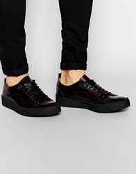 Fred Perry X George Cox Leather Trainers Red