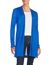 T Tahari Jolene Solid Cardigan Waterfall