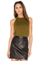 Riller And Fount Foxy Halter Top Green