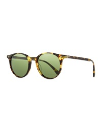 Oliver Peoples Delray Sun 48 Round Sunglasses Dark Brown