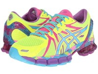 Asics Gel Sendai 3 Flash Yellow Turquoise Hot Pink Women's Running Shoes