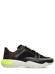 Fendi Ff All Over Cotton Low Top Sneakers Array 0X574fb10