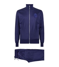 Billionaire Silk Blend Tracksuit Male Blue