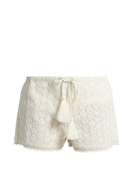 Talitha Broderie Anglaise Cotton Shorts White
