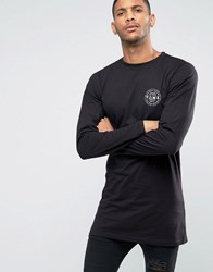 Friend Or Faux Calviston Long Sleeve Top In Longline Black