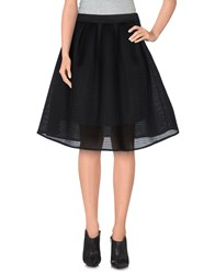 Luxury Fashion Skirts Knee Length Skirts Women Black