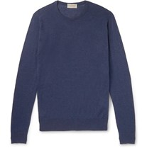 John Smedley Theon Slim Fit Sea Island Cotton And Cashmere Blend Sweater Blue