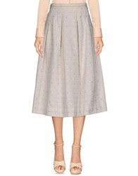 Just In Case 3 4 Length Skirts Ivory
