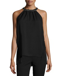 Kobi Halperin Florence Halter Top W Beaded Neck