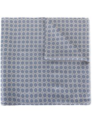 Hackett Printed Scarf Blue