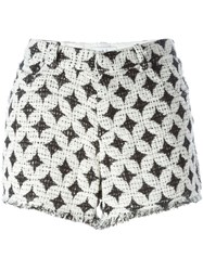 Iro Patterned Tweed Shorts White