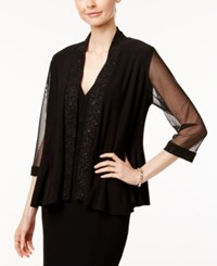 R And M Richards Glitter Illusion Jacket Black