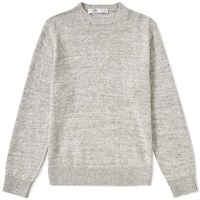 Inis Meain Donegal Linen Crew Knit Grey