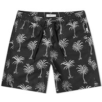Onia Charles 7 African Palm Swim Short Black