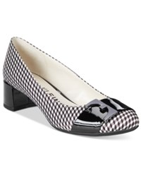Anne Klein Hastobe Block Heel Dress Pumps Black White