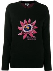 Kenzo Passion Flower Jumper Black