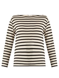 Saint Laurent Striped Cotton T Shirt White Stripe