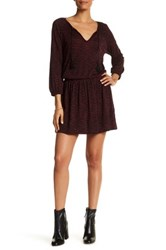 Soft Joie Long Sleeve Front Keyhole Dress Red