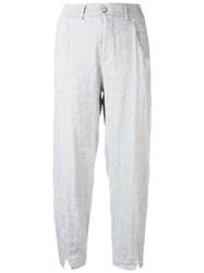 Transit Cropped Trousers Grey