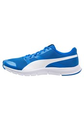 Puma Flexracer Lightweight Running Shoes Electric Blue Lemonade White