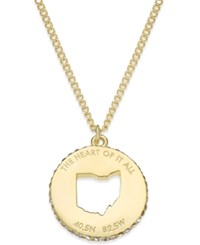Kate Spade New York State Of Mind Gold Tone State Cutout Pendant Necklace Ohio