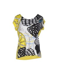 Desigual Topwear T Shirts Women Yellow