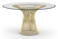 Knoll Platner Gold Dining Table Yellow
