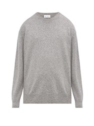 Raey Loose Fit Crew Neck Cashmere Sweater Grey