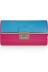 Marc Jacobs Plexi Two Tone Leather And Resin Box Clutch Pink