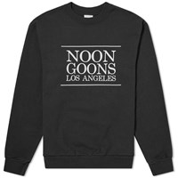 Noon Goons Los Angeles Logo Crew Sweat Black