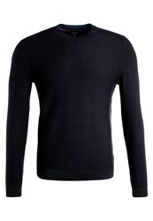Ted Baker Marlin Stitch Detail Crew Neck Jumper Navy Blue