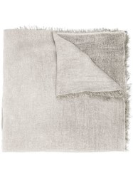 Eleventy Raw Edge Scarf Neutrals