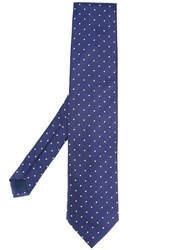 Pal Zileri Printed Dots Tie Blue