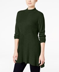 Styleandco. Style Co. Mock Turtleneck Ribbed Sweater Only At Macy's Dark Ivy