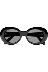 Acne Studios Mustang Oval Frame Acetate Sunglasses Black