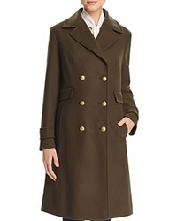 Basler Double Breasted Military Officer Coat Emerald