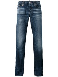 Philipp Plein So Crazy Jeans Men Cotton Polyester 34 Blue