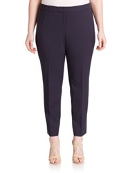 Lafayette 148 New York Plus Size Stretch Cotton Trousers Ink