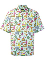Prada Multi Print Shortsleeved Shirt