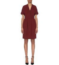 Reiss Camden Chiffon Wrap Dress Juniper