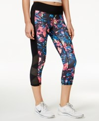 Ideology Floral Print Cropped Leggings Only At Macy's Tropical Floral