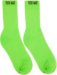 Alyx Two Pack Orange And Green Fuck War Neon Socks