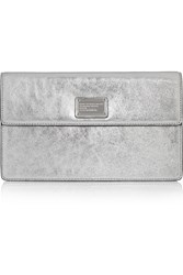 Marc By Marc Jacobs Nifty Gifty Jemma Metallic Leather Clutch
