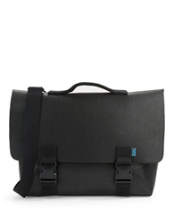 M R K T Kel Faux Leather Messenger Bag Black