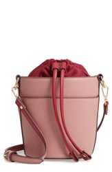 Chelsea 28 Chelsea28 Izzy Faux Leather Bucket Bag Pink Pink Rosette