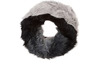 Barneys New York Women's Ombre Knitted Fur Cowl Scarf Black Grey