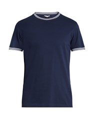 Orlebar Brown Lynch Cotton Pique T Shirt Navy