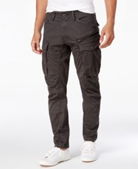 G Star Gstar Men's Rovic 3D Slim Fit Tapered Cargo Pants Raven