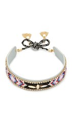 Rebecca Minkoff Sparkler Seed Bead Choker Necklace Black Multi
