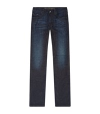Armani Collezioni Whiskered Slim Jeans Male Navy